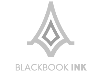 blackbook-ink logo, designed by Nik Hori Graphic designer Sydney